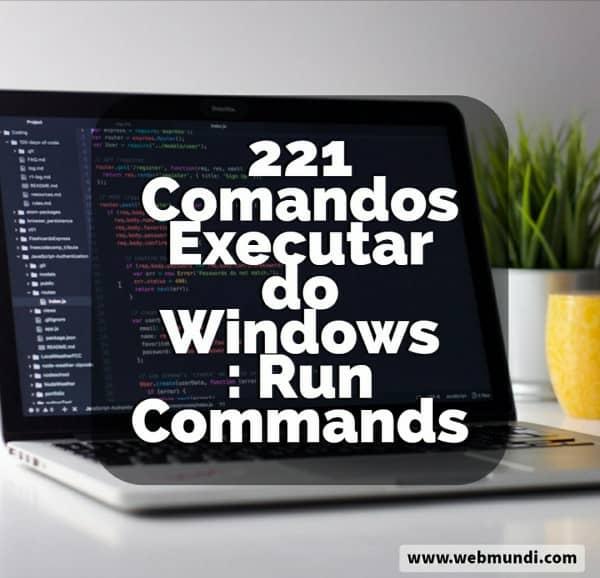 Você sabe o que são os Comandos Executar do Windows ? Com estes comandos é possível executar tarefas no Windows de uma forma muito mais rápida sem a necessidade de navegar por muitas telas ou janelas. Gostou do recurso ? Neste post do Web Mundi.comdisponibilizamos uma lista com mais de 220 comandos para você utilizar no Windows.