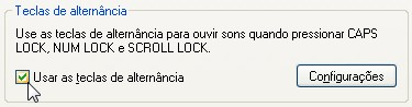 Como colocar som ao ativar as teclas Caps Lock, Num Lock e Scroll Lock