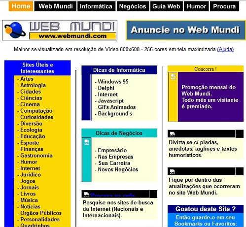 Web Mundi completa 17 Anos
